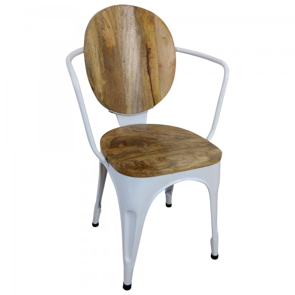 Stuhl wei esszimmerstuhl industrie design massivholz for Stuhl industrial design