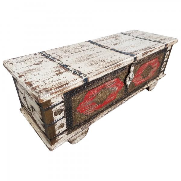 Truhe Kiste Holztruhe Vintage Massiv Box aus Altholz Antik Handarbeit Unikat 7