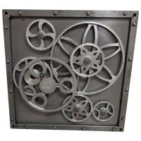 Metalbild 3D Wandbild Zahnräder Deko Design Industrial Style Wall Art Lounge Bar