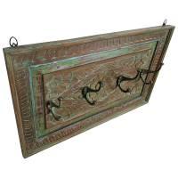 Wand Garderobe Vintage Garderobenleiste Garderobenpannel Haken Flur Holz Shabby