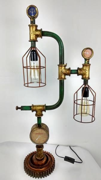 Tischlampe Leuchte Metall Steampunk Industrial Style Use Retro Vintage Design