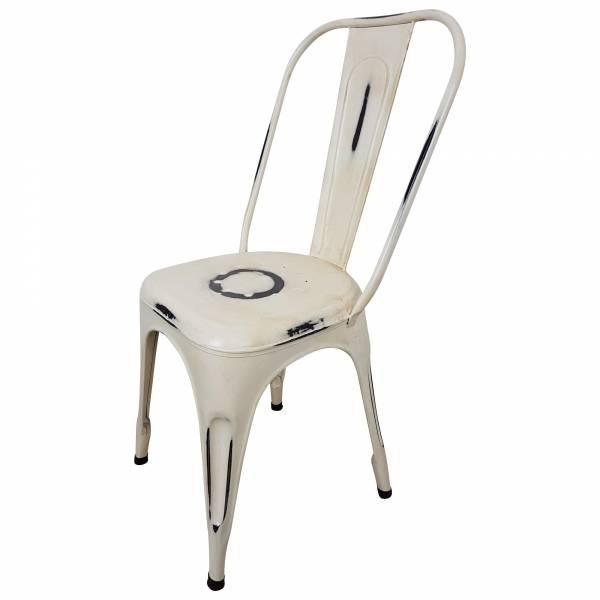 Bistro-Stuhl Esszimmerstuhl Stapelstuhl Industriedesign Metall Vintage Factory