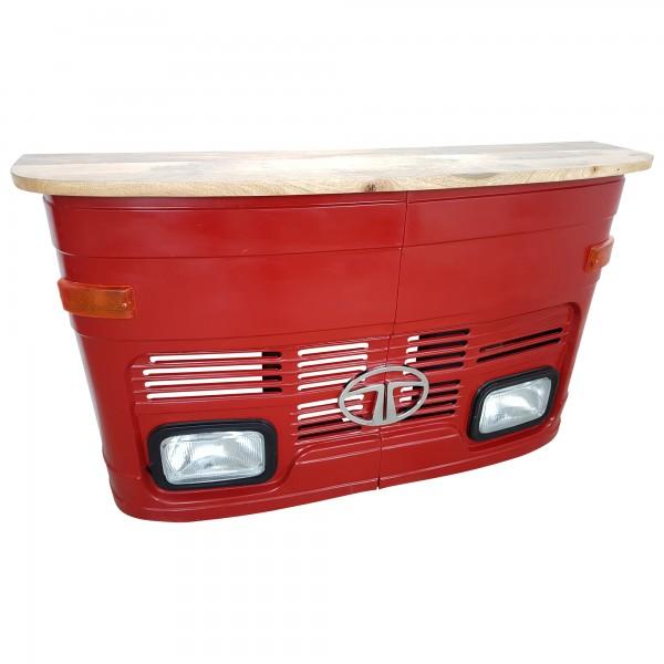 Theke Tresen LKW Front Tata Rot Empfangstresen Empfangstheke Vintage Design Art