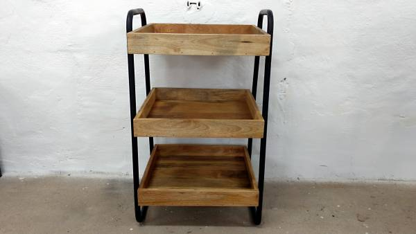 Küchenwagen Beistelltisch mehrstöckig BarTable Industrie Design Retro Tisch Holz