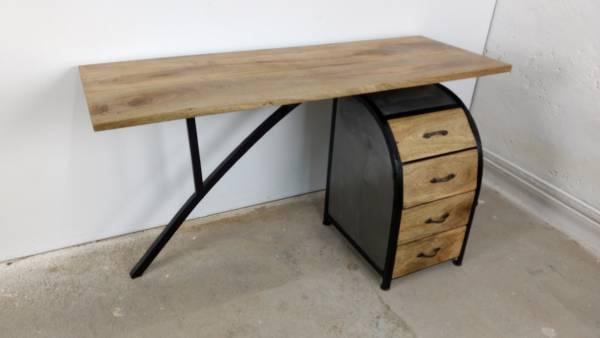 Schreibtisch b ro tisch ofiice akazie mit b ro container for Schreibtisch container design