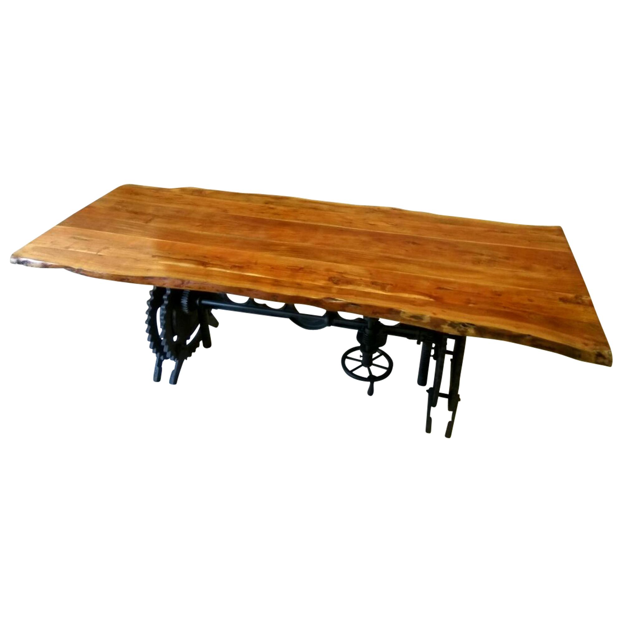 Esstisch esszimmer tisch baumstamm massiv holz industrial for Tisch esszimmer holz