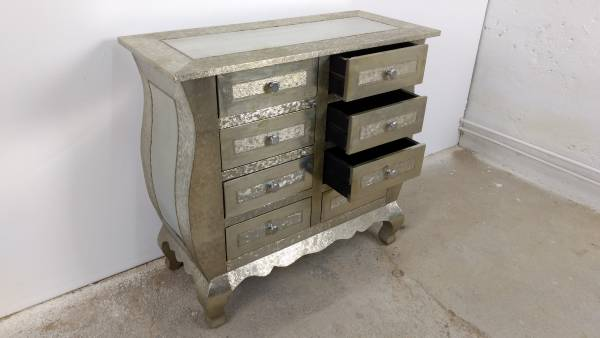 Kommode Schrank Anrichte Sideboard Mit Schubkasten Vintage Silber