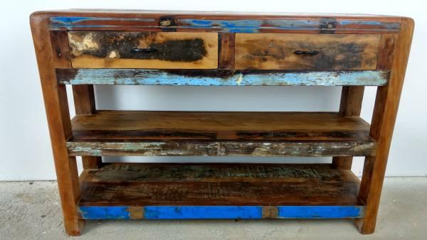 Massivholz Kommode Schrank Sideboard Flurschrank Anrichte Vintage Shabby Chic