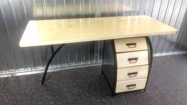Schreibtisch design holz  Schreibtisch Bürotisch mit Büro-Container 160cm Holz Design Handarbeit  Unikat