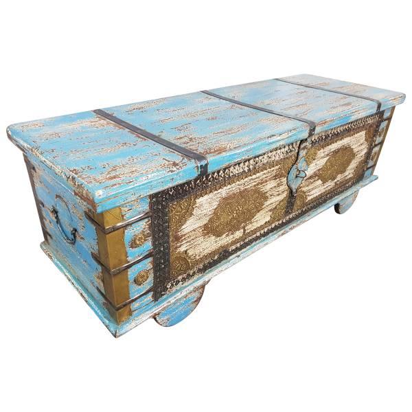 Truhe Kiste Holztruhe Vintage Massiv Box aus Altholz Antik Handarbeit Unikat 18