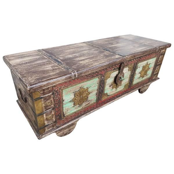 Truhe Kiste Holztruhe Vintage Massiv Box aus Altholz Antik Handarbeit Unikat 17