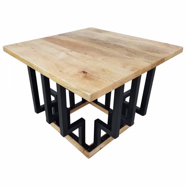 Couchtisch Lounge-Tisch Mango Massiv-Holz 60 cm Bar Bistro Cafe Loft Industrial
