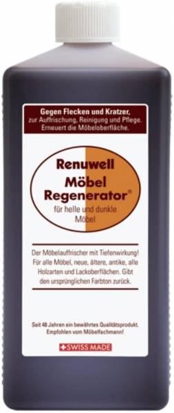 RENUWELL Möbel Regenerator Möbelpflege 1000 ml 1 Liter 1 L gegen Flecken Kratzer