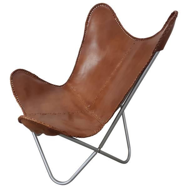 Butterfly Chair Sessel Vintage Lounge Stuhl echt Leder