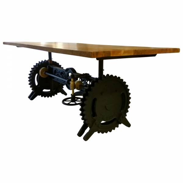 Esstisch Esszimmer-Tisch Mango Massiv-Holz Industrial Design Loft Crank Table