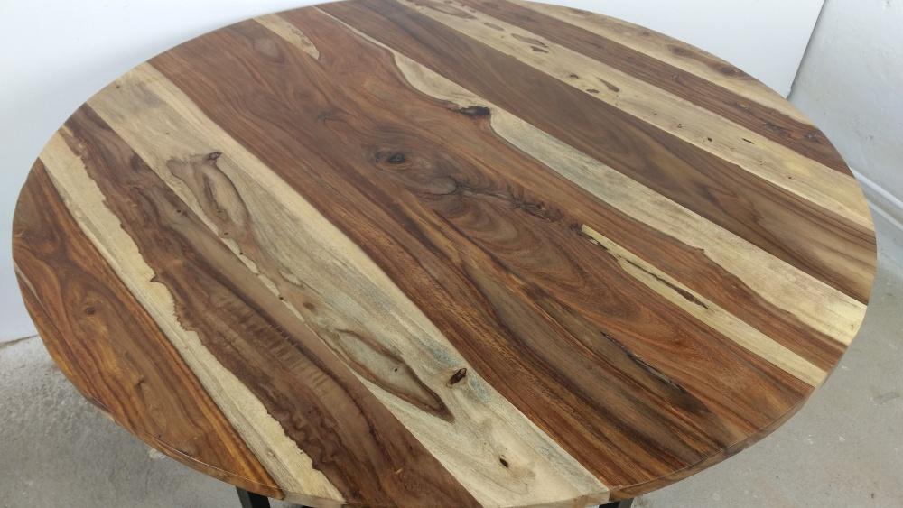 Details zu Esstisch Küchentisch Esszimmer Tisch Massiv Holz Design Rund Ø 120 cm modern Art