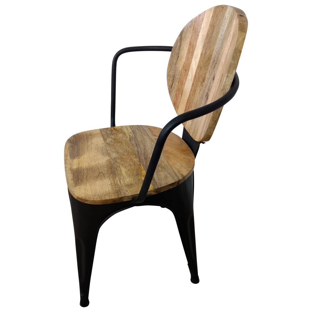 Stuhl Schwarz Esszimmerstuhl Industrie Design Mango Holz Handarbeit Industrial   eBay